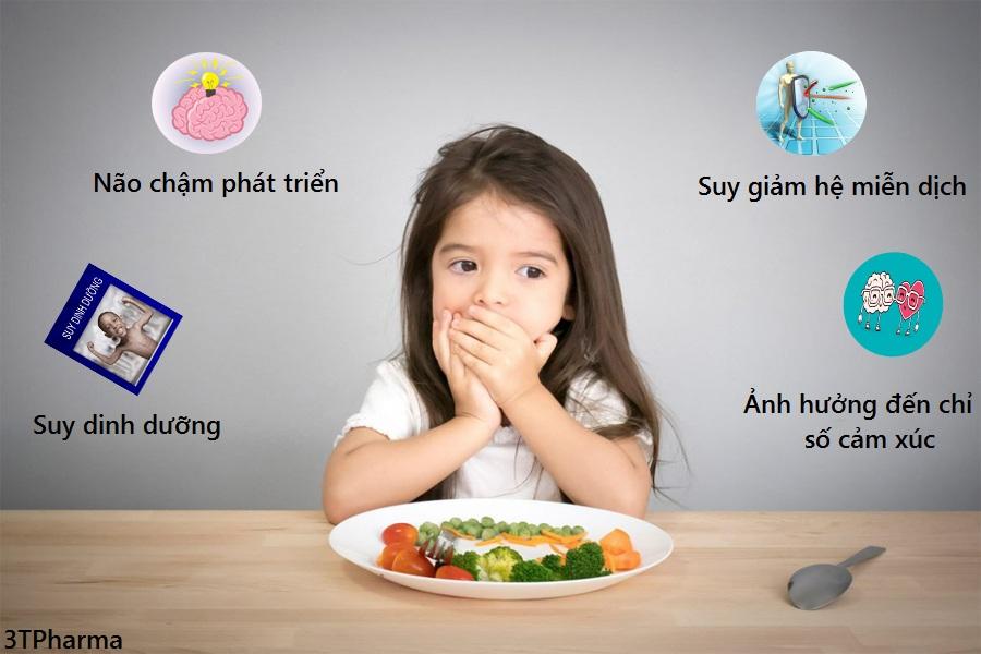 Trẻ biếng ăn kéo dài gây nên hậu quả gì mẹ đã biết chưa?