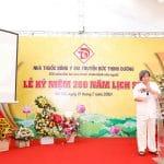Giáo sư sử học Lê Văn Lan phát biểu ý kiến về lịch sử của Nhà thuốc Đông y gia truyền Đức Thịnh Đường